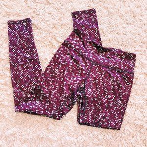 RBX Pants & Jumpsuits - RBX Maroon Workout Leggings With Dotted Pattern